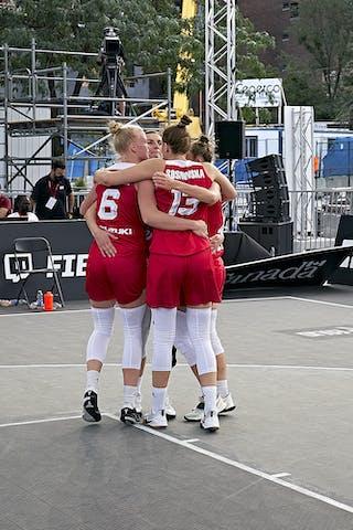 FIBA 3x3, World Tour 2021, Montréal, Canada, Esplanade Place des Arts. WOMEN MONGOLIA VS POLAND