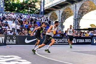 2 Barhan Topuz (TUR) - 4 Marko Brankovic (SRB) - 6 Stefan Kojic (SRB) - Liman v Manisa, 2016 WT Lausanne, Pool, 26 August 2016