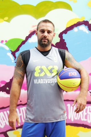 #5 Moroz Evgenii, Team Vladivostok, FIBA 3x3 World Tour Beijing 2014, 2-3 August.