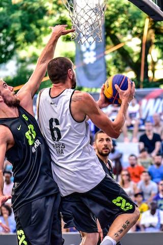 6 Maxime Courby (FRA) - 6 Nikola Vujovic (SLO) - Maribor v Paris, 2016 WT Lausanne, Pool, 26 August 2016