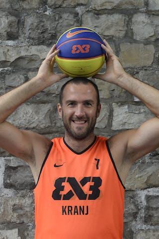 #7 Erzen Jure, Team Kranj, FIBA 3x3 World Tour Lausanne 2014, 29-30 August.