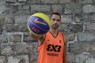 #6 Bohm Dave, Team Marburg, FIBA 3x3 World Tour Lausanne 2014, 29-30 August.
