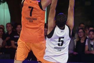 #7 Welling Nicolas, Team Dusseldorf, FIBA 3x3 World Tour Lausanne 2014, Day 1, 29. August.