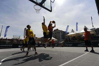 Day 1 of the 2012 FIBA 3x3 World Tour Madrid Masters. 07 September 2012