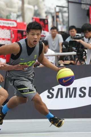 #3 Chunmao Niu, Team Xi'an, 2014 World Tour Beijing, 3x3game, 2-3 August.
