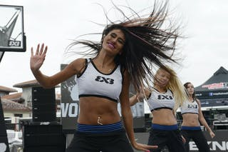 Cheerleaders dancing at  2013 FIBA 3x3 World Tour final in Istanbul