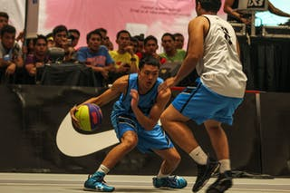 Player in attack, 2014 World Tour Manila, 3x3 game, 20. July.