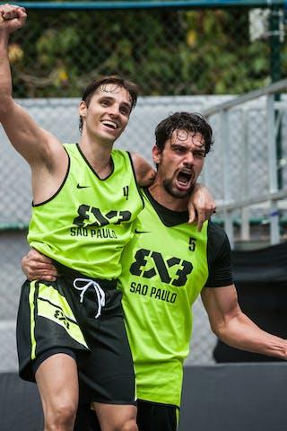 Del'Arco Rodrigo Diguinho and Marcio Cardozo, Team Sao Paulo, FIBA 3x3 World Tour Rio de Janeiro 2014, Day 2, 28. September.