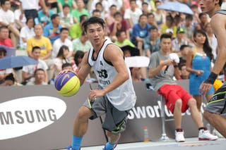 #4 Li Han-Sheng, Team New Taipei, 2014 World Tour Beijing, 3x3game, 2-3 August.