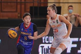 23 Charlotte Van Kleef (NED) - 6 Minjin Ganbat (MGL)