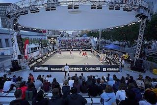 FIBA 3x3, World Tour 2021, Mtl, Can, Esplanade Place des Arts. SF Amsterdam vs Antwerp
