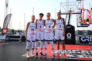5 Marcella Filippi (ITA) - 55 Debora Carangelo (ITA) - 9 Giulia Ciavarella (ITA) - 8 Giulia Rulli (ITA)