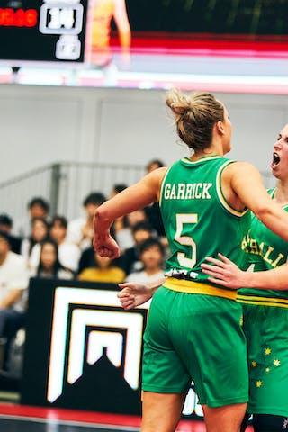 7 Keely Froling (AUS) - 5 Maddie Garrick (AUS) - 4 Bec Cole (AUS) - Game5_Final_Netherlands vs Australia
