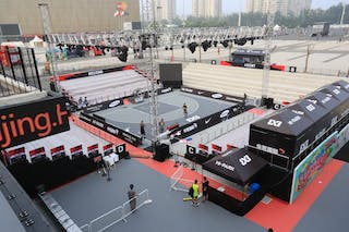 MCC center Beijing, China, court view, FIBA 3x3 World Tour Beijing 2014, 2-3 August.