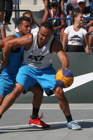 4 Michael Linklater (CAN) - Saskatoon vs Gurabo in the FIBA 3x3 World Tour Saskatoon 2017 semi final