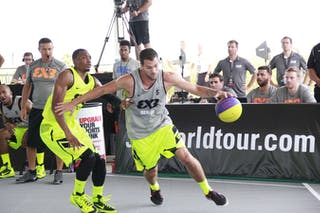 #5 Brendan Puckett, Team Denver, 2014 World Tour Chicago, 3x3 game, 16 August, Day 2.
