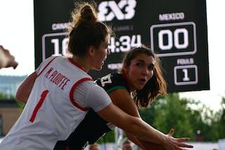 15 Laura Nunez (MEX) - 1 Michelle Plouffe (CAN)
