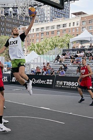 FIBA 3x3, World Tour 2021, Montréal, Canada, Esplanade Place des Arts. MEN Riga vs. Raudondvaris