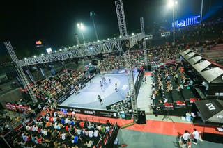Court view, panorama, 2014 World Tour Beijing, 3x3game, 3rd of August, day 2.