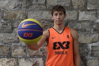 #4 Finzgar Simon, Team Trbovlje, FIBA 3x3 World Tour Lausanne 2014, 29-30 August.