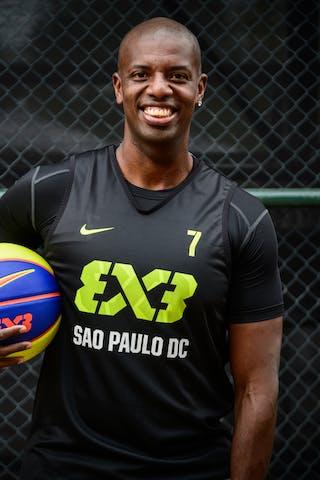 #7 Mariano JR Juninho, Team Sao Paulo DC, headshot, FIBA 3x3 World Tour Rio de Janeiro 2014, 27-28 September.