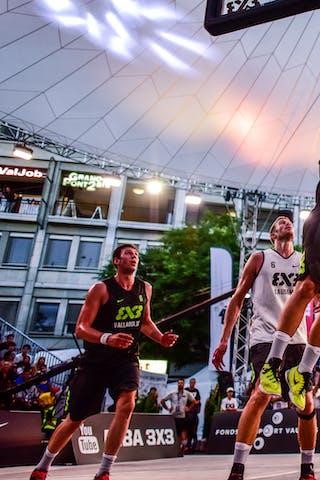 5 Yino Martinez (SUI) - 6 Oliver Vogt (SUI) - 4 Derrick Lang (SUI) - 5 Alvaro Calvo (ESP) - 3 Álvaro Asier Martínez (ESP) - Lausanne v Valladolid, 2016 WT Lausanne, Pool, 26 August 2016