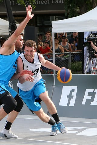 5 Vadim Halimov (CAN) - 3 Steve Sir (CAN) - Saskatoon vs Hamilton at FIBA 3x3 Saskatoon 2017