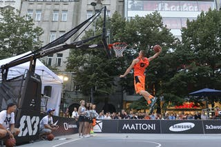 Dunk contest at the 3x3 World Tour Masters in Prague, 24-25 August 2013