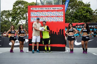 #4 Felipe Ventura, Team Pelotas, winner of the shootout contest, FIBA 3x3 World Tour Rio de Janeiro 2014, Day 2, 28. September.