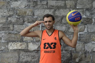 #4 Antar Moeman, Team Monastir, FIBA 3x3 World Tour Lausanne 2014, 29-30 August.