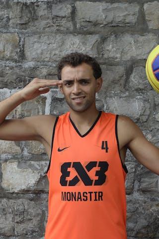#4 Antar Moeman, Team Monastir, FIBA 3x3 World Tour Lausanne 2014, 29-30 August.