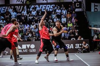 5 Shi Zhaoxu (CHN) - 3 Zhang Jingli (CHN) - 4 Steve Sir (CAN) - 6 Nolan Brudehl (CAN)