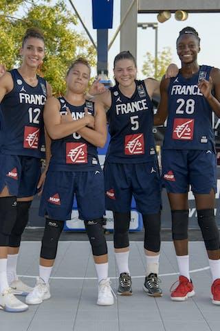 6 Caroline Hériaud (FRA) - 28 Migna Touré (FRA) - 12 Laetitia Guapo (FRA) - 5 Marie-eve Paget (FRA)