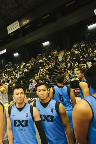 Team jakarta, opening ceremony, FIBA 3x3 World Tour Final Tokyo 2014, 11-12 October.