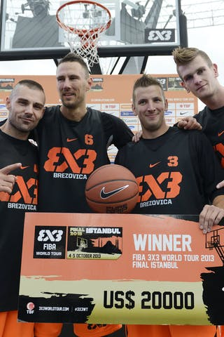 After winning the FIBA 3x3 World Tour and the FIBA 3x3 All Stars in 2013 representing the city of Brezovica, Jasmin Hercegovac, Ales Kunc, Rok Smaka and Blaz Cresnar (left to right) will now represent Slovenia at the 2014 FIBA 3x3 World Championships.