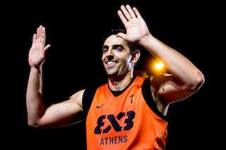 #7 Stefanos Solomos. Team Athens. 2014 World Tour Prague. 3x3 Game. 23 August. Day 1.