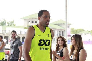 #7 Marcus King-Stockton, Team Denver, 2014 World Tour Chicago, 3x3 game, 16 August, Day 2.