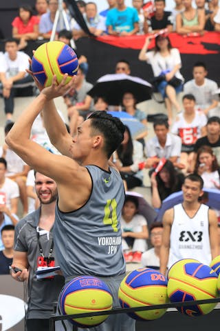 #4 Ochiai Tomoya, Team Yokohama, shoot-out contest, 2014 World Tour Beijing, 3x3game, 2-3 August.