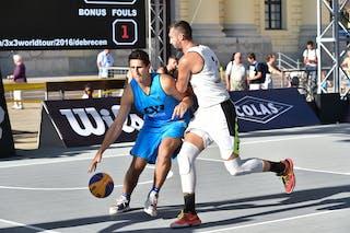 5 Aurélien Blanchard (FRA) - 3 Marko Zdero (UAE) - Novi Sad Al Wahda v Bordeaux, 2016 WT Debrecen, Pool, 7 September 2016