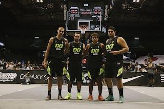 Team Santos, team photo, FIBA 3x3 World Tour Final Tokyo 2014, 11-12 October.