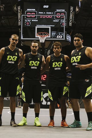 Team Santos, team photo, FIBA 3x3 World Tour Final Tokyo 2014, 11-12 October.