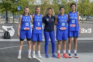 12 Valeria Trucco (ITA) - 18 Meriem Nasraoui (ITA) - 15 Clara Rosini (ITA) - 5 Giulia Ianezic (ITA)