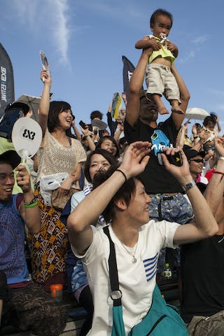 Fans at the Tokyo Masters 20-21 July 2013