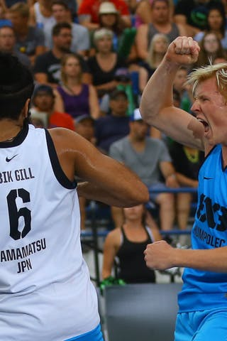 6 Bikramjit Gill (JPN) - 4 Vojtěch Rudický (CZE) - Humpolec vs Hamamatsu FIBA 3x3 Saskatoon 2017 (Can)