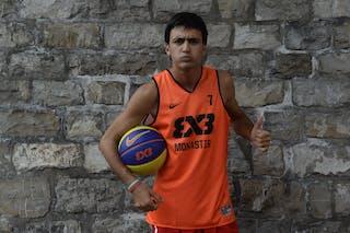 #7 Chaabane Yassine, Team Monastir, FIBA 3x3 World Tour Lausanne 2014, 29-30 August.