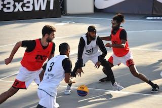 6 Lucas Dussoulier (FRA) - 4 Florian Fortas (FRA) - 3 David Seagers (USA) - 5 Dominique Jones (USA)