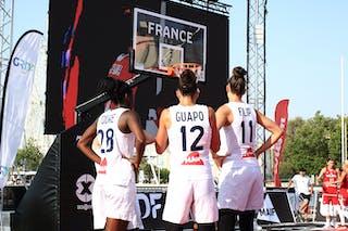 28 Migna Touré (FRA) - 12 Laetitia Guapo (FRA) - 11 Ana Maria Filip (FRA) - 5 Marie-eve Paget (FRA)