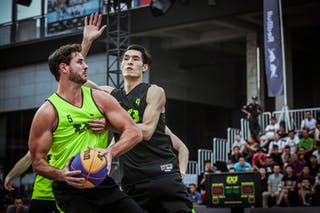 4 Qingbin Huang (CHN) - 5 Rory Fannon (NZL) - Auckland v Wukesong, 2016 WT Beijing, Pool, 17 September 2016
