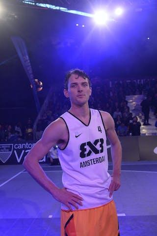 #4 Sjoerd Van Vilsteren, Team Amsterdam, dunk contest, FIBA 3x3 World Tour Lausanne 2014, Day 1, 29. August.