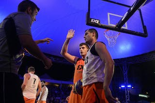 Referee calls the foul, FIBA 3x3 World Tour Lausanne 2014, Day 2, 30. August.